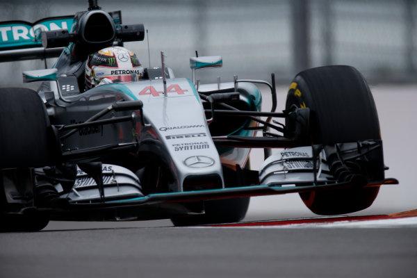 Sochi Autodrom, Sochi, Russia. Friday 9 October 2015. Lewis Hamilton, Mercedes F1 W06 Hybrid. World Copyright: Glenn Dunbar/LAT Photographic ref: Digital Image _W2Q9783