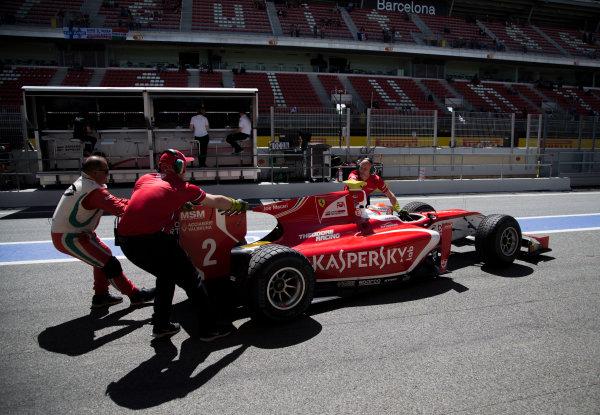 2017 FIA Formula 2 Round 2. Circuit de Catalunya, Barcelona, Spain. Friday 12 May 2017. Antonio Fuoco (ITA, PREMA Racing)  Photo: Jed Leicester/FIA Formula 2. ref: Digital Image JL1_9131