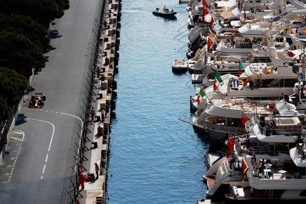 Monte Carlo, Monaco. Thursday 25 May 2017. Max Verstappen, Red Bull Racing RB13 TAG Heuer. World Copyright: Glenn Dunbar/LAT Images ref: Digital Image _X4I1162
