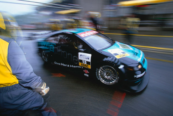 2002 DTM Championship, Zolder, Belgium. Rd 2, 4th-5th May 2002.Michael Bartels races out of the pits after suffering a penalty due to confusion with the Safety car.World Copyright: Lawrence/LAT Photographic