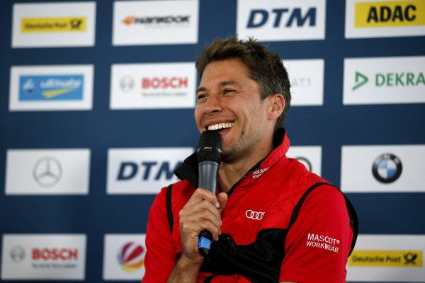 Press Conference, Loic Duval, Audi Sport Team Phoenix.