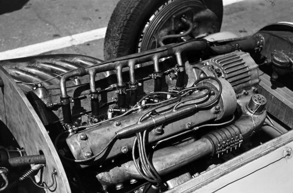 An engine in one of the cars.