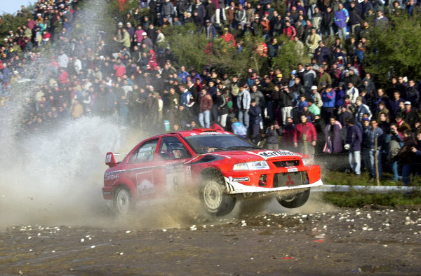 2001 World Rally Championship. ArgentinaMay 3rd-6th, 2001Freddy Loix on stage 9.Photo: Ralph Hardwick/LAT