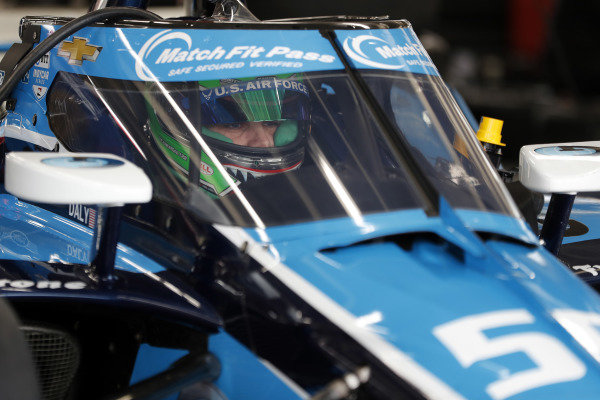#59: Conor Daly, Carlin Chevrolet is fitted for his seat