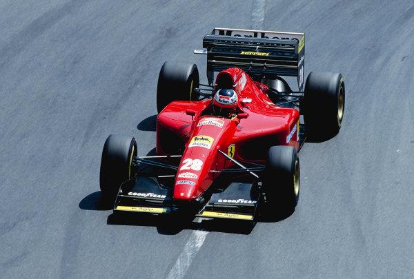 1994 Monaco Grand Prix.Monte Carlo, Monaco. 12-15 May 1994.Gerhard Berger (Ferrari 412T1) 3rd position.Ref-94 MON 73.World Copyright - LAT Photographic