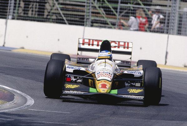 1994 Australian Grand Prix.Adelaide, Australia. 11-13 November 1994.Mika Salo (Lotus 109 Mugen Honda).Ref-94 AUS 64.World Copyright - LAT Photographic