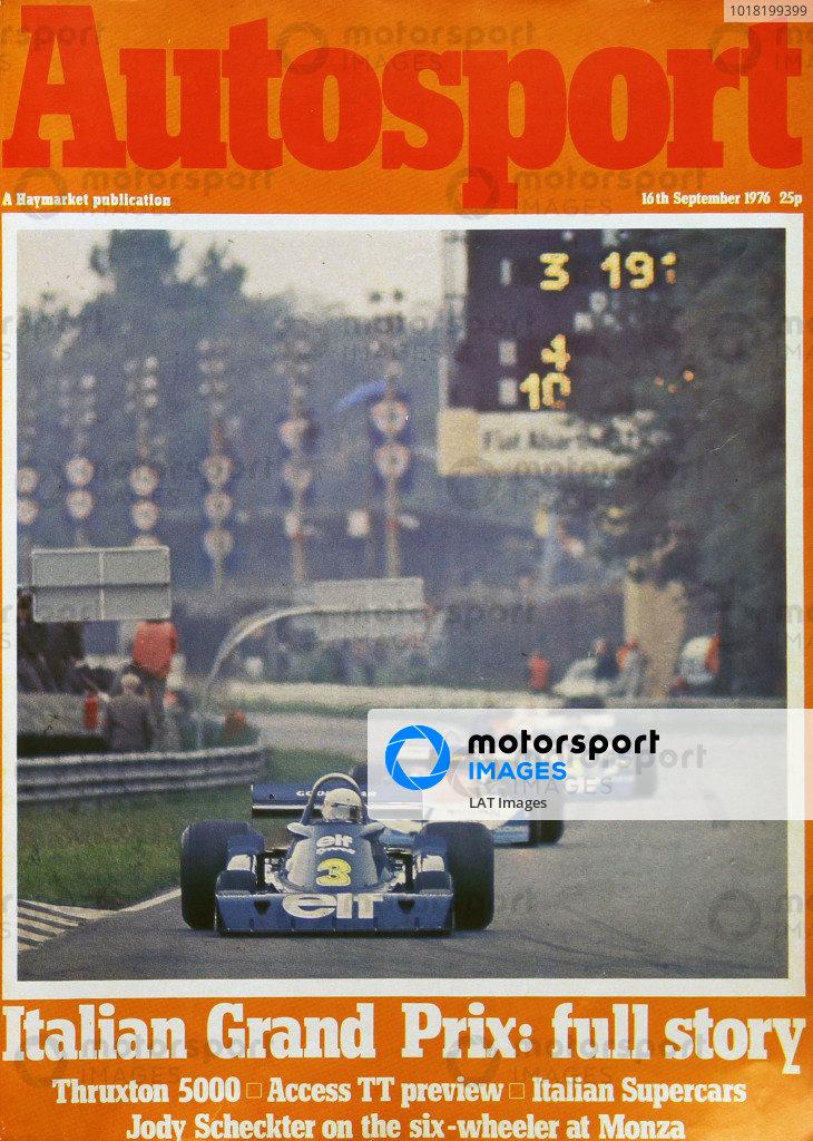 Cover of Autosport magazine, 16th September 1976