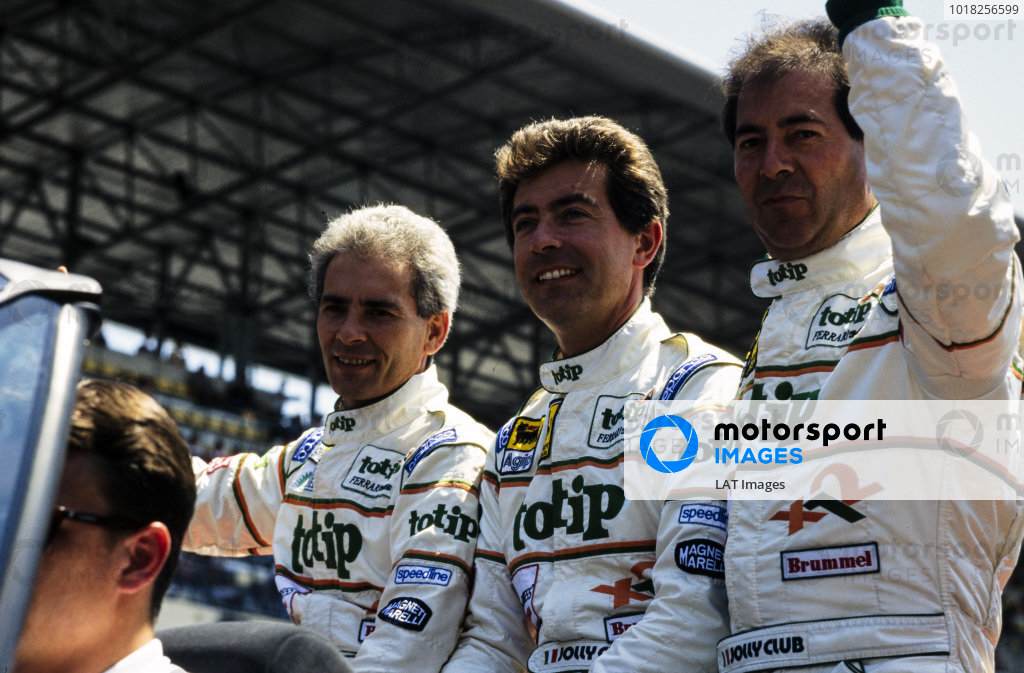 Anders Olofsson, Sandro Angelastro and Luciano Della Noce, Strandell, on the drivers parade.