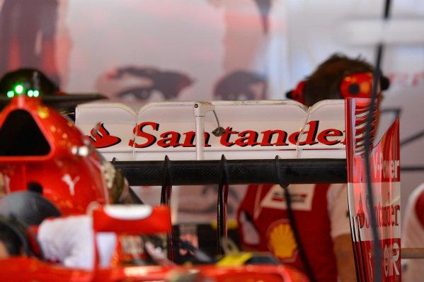 Ferrari F14 T rear wing detail. Formula One World Championship, Rd1, Australian Grand Prix, Preparations, Albert Park, Melbourne, Australia, Thursday 13 March 2014.