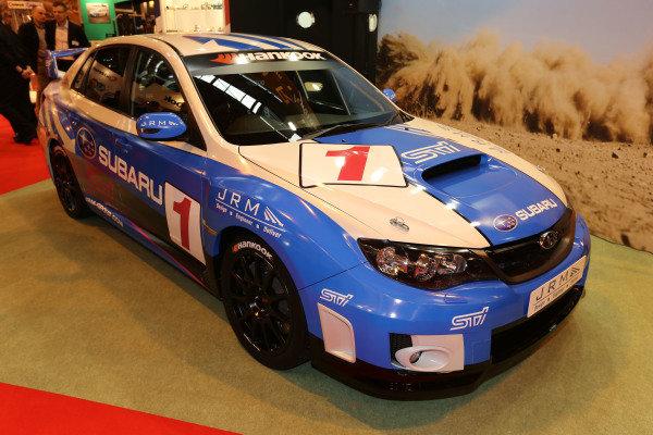 JRM Subaru. Autosport International Show, NEC, Birmingham, England, Day One, 9 January 2014.