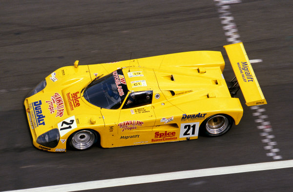 Ray Bellm (GBR) / Gordon Spice (GBR) / Lyn St. James (USA), Spice Engineering SE89C, did not finish.Le Mans 24 Hours, Le Mans, France, 10 & 11 June 1989.