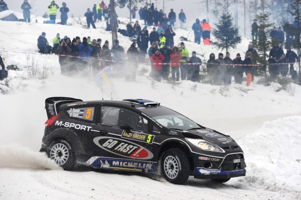 Ott Tanak (EST), Ford Fiesta RS WRC, on stage 12.