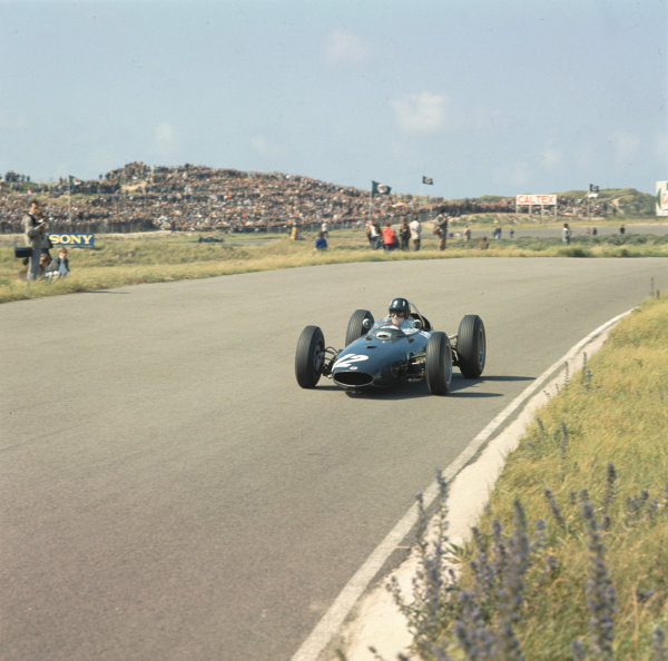 1963 Dutch Grand Prix.Zandvoort, Holland.21-23 May 1963.Graham Hill (BRM P57).Ref-975A.World Copyright - LAT Photographic