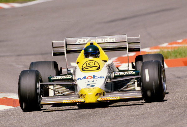 1984 German Grand Prix.Hockenheim, Germany.3-5 August 1984.Jacques Laffite (Williams FW09B Honda).Ref-84 GER 24.World Copyright - LAT Photographic