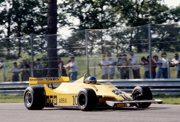 1981 San Marino Grand Prix. Imola,Italy. 1-3 May 1981. Tommy Slim Borgudd (ATS D4 Ford) 13th position. Ref-81 SM 21. World Copyright - LAT Photographic