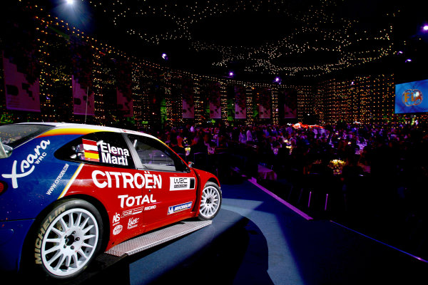 2004 FIA Awards DinnerMonte Carlo, Monaco. 11th December 2004The Citroen Xsara WRC Rally Car provides some atmosphere for the guests.World Copyright: Malcolm Griffiths/LAt Photographicref: Digital Image Only