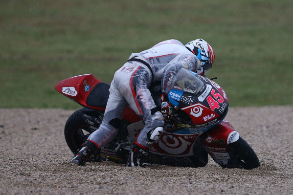 2017 Moto2 Championship - Round 13 Misano, Italy. Sunday 10 September 2017 Tetsuta Nagashima, SAG Racing Team after his crash World Copyright: Gold and Goose / LAT Images ref: Digital Image 8195