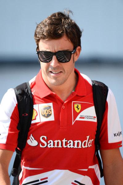 Fernando Alonso (ESP) Ferrari. Formula One World Championship, Rd10, Hungarian Grand Prix, Race Day, Hungaroring, Hungary. Sunday 28 July 2013.