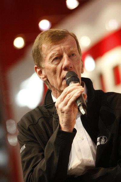 Walter Rohrl (GER). Autosport International Show, NEC, Birmingham, England, Day Two, 10 January 2014.