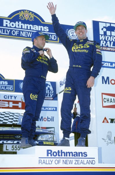 1994 World Rally Championship. New Zealand Rally, New Zealand. 29-31 July 1994. Colin McRae/Derek Ringer (Subaru Impreza 555), 1st position. World Copyright: LAT Photographic Ref: 35mm transparency 94RALLY20