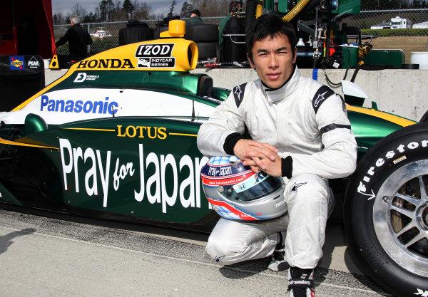 "14-15 March, 2011, Birmingham, Alabama, USATakuma Sato with ""Pray for Japan"" livery©2011, Chris Jones, courtesy of Indycar comLAT Photo USA"