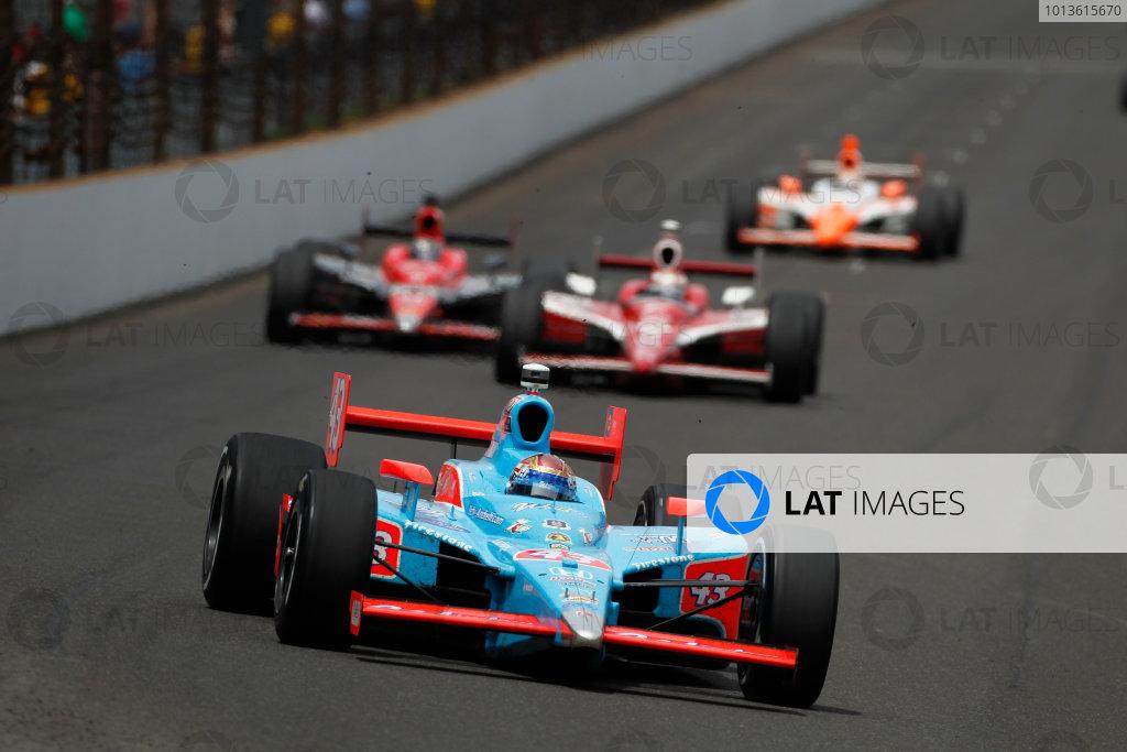 29 May, 2011, Indianapolis, Indiana, USAJohn Andretti leads Scott Dixon, Marco Andreti and Dan Wheldon.© 2011 Phillip AbbottLAT Photo USA