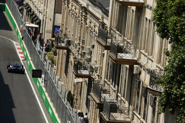 Baku City Circuit, Baku, Azerbaijan. Friday 23 June 2017. Pascal Wehrlein, Sauber C36-Ferrari. World Copyright: Charles Coates/LAT Images ref: Digital Image AX0W5527