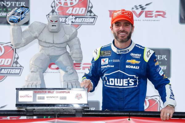 Monster Energy NASCAR Cup Series AAA 400 Drive for Autism Dover International Speedway, Dover, DE USA Sunday 4 June 2017 Jimmie Johnson, Hendrick Motorsports, Lowe's Chevrolet SS World Copyright: Matthew T. Thacker LAT Images ref: Digital Image 17DOV1mt1938