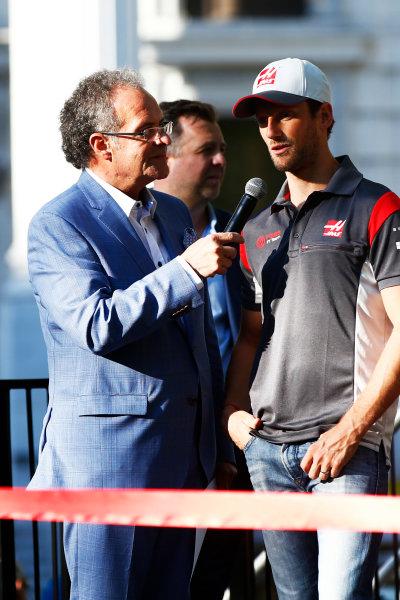 Circuit Gilles Villeneuve, Montreal, Canada. Wednesday 7 June 2017. Romain Grosjean, Haas F1.  World Copyright: Hone/LAT Images ref: Digital Image _ONZ1174