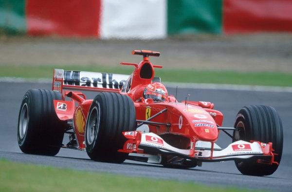 2004 Japanese Grand Prix.Suzuka , Japan 8th - 10th October 2004Michael Schumacher, Ferrari F2004. Action. World Copyright:Peter Spinney/LAT Photographic ref: 35mm Image: A12