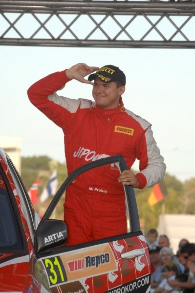 Martin Prokop (CZE), Mitsubishi Lancer, wins the production category.World Rally Championship, Rd10, Repco Rally Australia, Kingscliff, Gold Coast, New South Wales, Australia, Day Three, Sunday 6 September 2009.