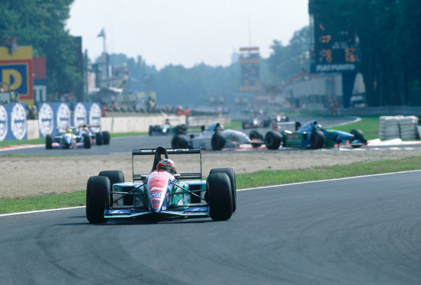 Monza, Italy. 9th - 11th September 1994.Rubens Barrichello (Jordan 194-Hart), 4th position, action. World Copyright: LAT Photographic.Ref: Colour Transparency.