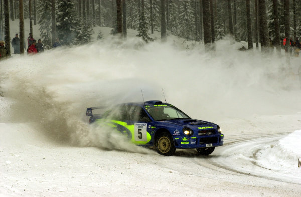 2001 World Rally Championship.   Swedish Rally. 9th - 11th February 2001. Rd 2. Richard Burns set several fastest times trying to make up for the lost time on the first leg after hitting a snow bank. World Copyright: Ralph Hardwick/ LAT Photographic. Ref: Burns4 2