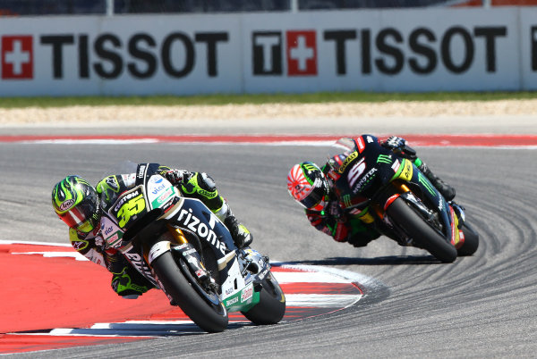 2017 MotoGP Championship - Round 3 Circuit of the Americas, Austin, Texas, USA Sunday 23 April 2017 Cal Crutchlow, Team LCR Honda, Johann Zarco, Monster Yamaha Tech 3 World Copyright: Gold and Goose Photography/LAT Images ref: Digital Image MotoGP-R-500-3035