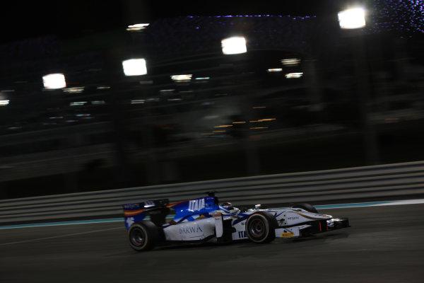2013 GP2 Series Test 3 Yas Marina Circuit, Abu Dhabi, UAE. Day 3, Thursday 7th November 2013. Facu Regalia (ARG, Barwa Addax Team)  World Copyright: Sam Bloxham/LAT Photographic. ref: Digital Image IMG_5894