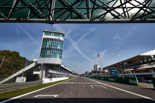 Autodromo Nazionale di Monza, Italy  Thursday 1 September 2016. The pit straight and tower at Monza. World Copyright: Steve Etherington/LAT Photographic ref: Digital Image SNE15064