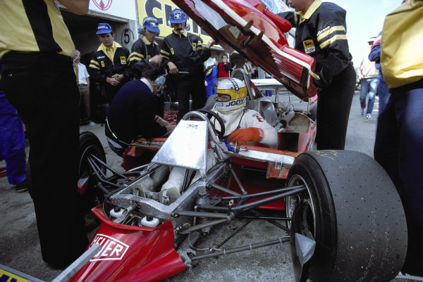 Jody Scheckter, Ferrari 312T4, during practice.