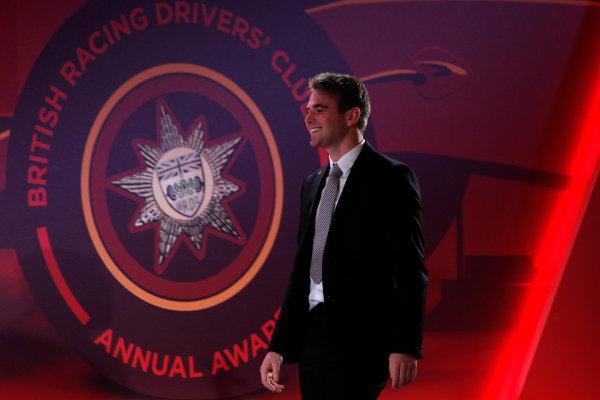 2015 British Racing Drivers Club Awards Grand Connaught Rooms, London Monday 7th December 2015 Oliver Rowland. World Copyright: Jakob Ebrey/LAT Photographic ref: Digital Image Rowland-04