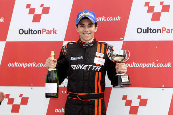 2014 Protyre Motorsport Ginetta GT5 Challenge, Oulton Park, Cheshire. 19th April 2014. Ollie Chadwick (GBR) Xentek Motorsport Ginetta G40. World Copyright: Ebrey / LAT Photographic.