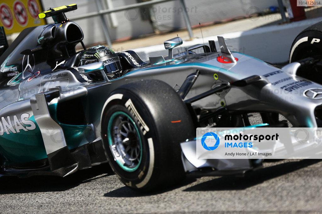 Circuit de Catalunya, Barcelona, Spain. Saturday 10 May 2014. Nico Rosberg, Mercedes F1 W05 Hybrid. World Copyright: Andy Hone/LAT Photographic. ref: Digital Image _ONZ0796