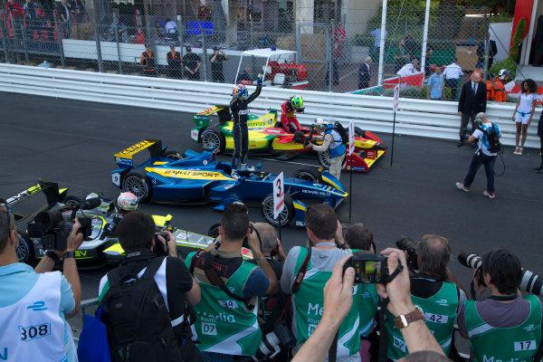 2014/2015 FIA Formula E Championship. Sebastien Buemi (SWI)/E.dams Renault - Spark-Renault SRT_01E  Monaco ePrix Race. Monaco ePrix, Monte Carlo, Monaco, Europe. Saturday 9 May 2015  Photo: Adam Warner/LAT/Formula E ref: Digital Image _L5R1434