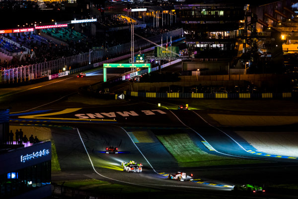 2016 Le Mans 24 Hours. Circuit de la Sarthe, Le Mans, France. Sunday 19 June 2016. A view of the Ford Chicane and start/finish straight during the race. World Copyright: Zak Mauger/LAT Photographic ref: Digital Image _79P8318