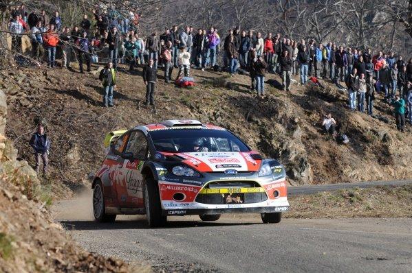 Martin Prokop (CZE), Ford Fiesta RS WRC, on stage 3. FIA World Rally Championship, Rd1, Rallye Monte-Carlo, Monaco, Day One, Wednesday 18 January 2012.