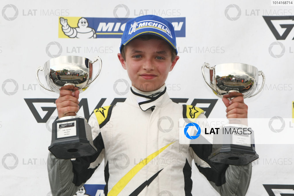 2014 Ginetta Junior Championship, Croft, North Yorkshire. 28th-29th June 2014 Lando Norris (GBR) HHC World copyright: Ebrey/LAT Photographic