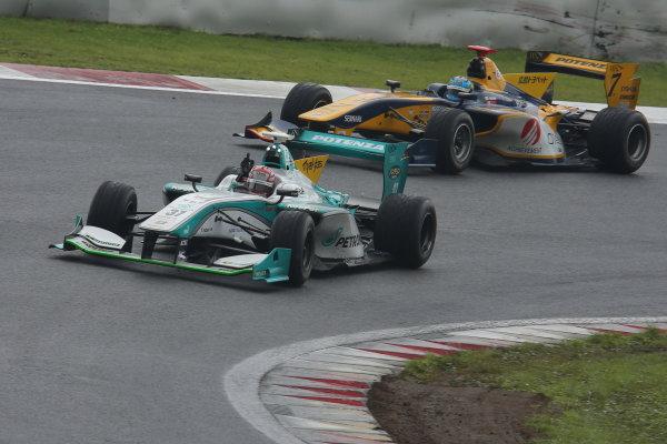2014 Super Formula Series. Fuji, Japan. 11th - 13th July 2014. Rd 3. Winner Kazuki Nakajima ( #37 TEAM TOM'S SF14 ) action. World Copyright: Yasushi Ishihara / LAT Photographic. Ref: 2014SF_Rd3_010.JPG