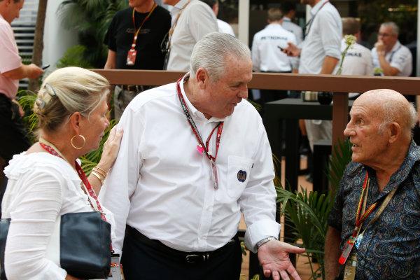 Marina Bay Circuit, Singapore. Sunday 21 September 2014. Sir Stirling Moss. World Copyright: Charles Coates/LAT Photographic. ref: Digital Image _J5R7681