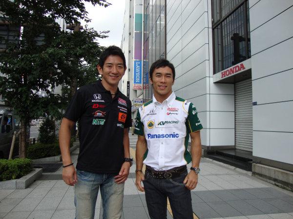 16-19 September, 2011, Twin Ring Motegi, JapanTakuma Sato and Hideki Mutoh fan day at Honda World HQ(c)2011, Steve ShunckLAT Photo USA