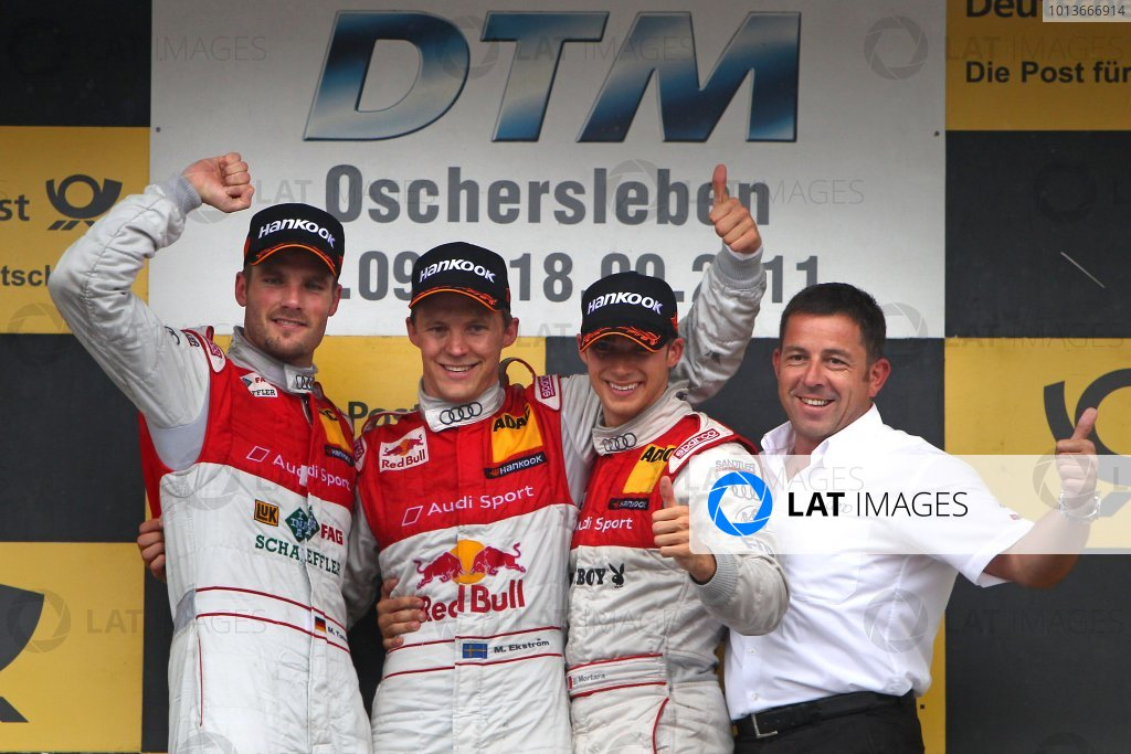 The podium and results: