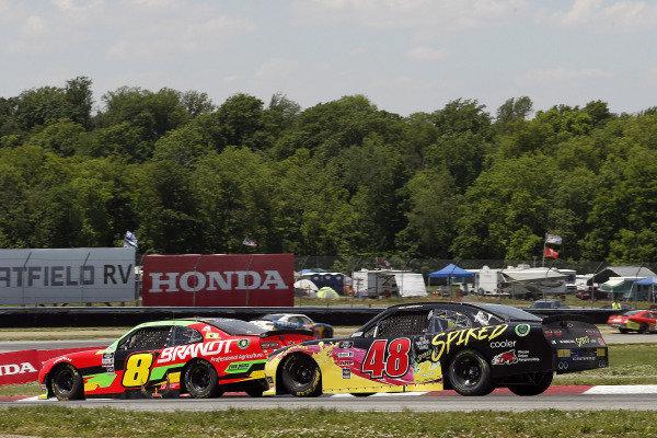 #8: Miguel Paludo, JR Motorsports, Chevrolet Camaro BRANDT and #48: Jade Buford, Big Machine Racing, Chevrolet Camaro Big Machine Spiked Coolers
