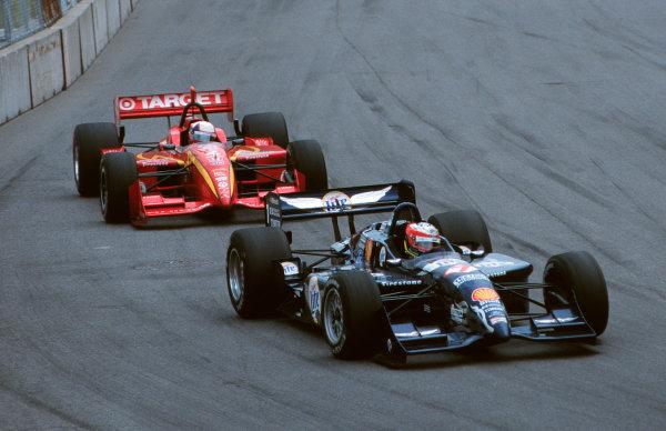 1999 CART Toronto G P.Papis and Montoya battle-1999, Michael L. Levitt, USALAT PHOTOGRAPHIC